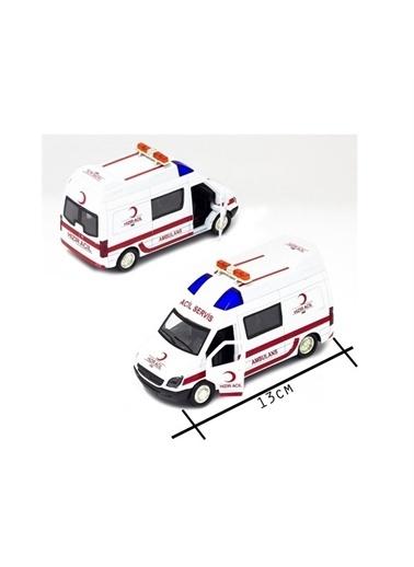 Birlik Oyuncak Birlik Oyuncak 5058A12D Minitro Çek Bırak Çocuk Ambulans Arabası Renkli